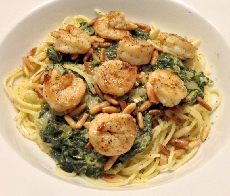 spinat_kingprawns_spaghetti